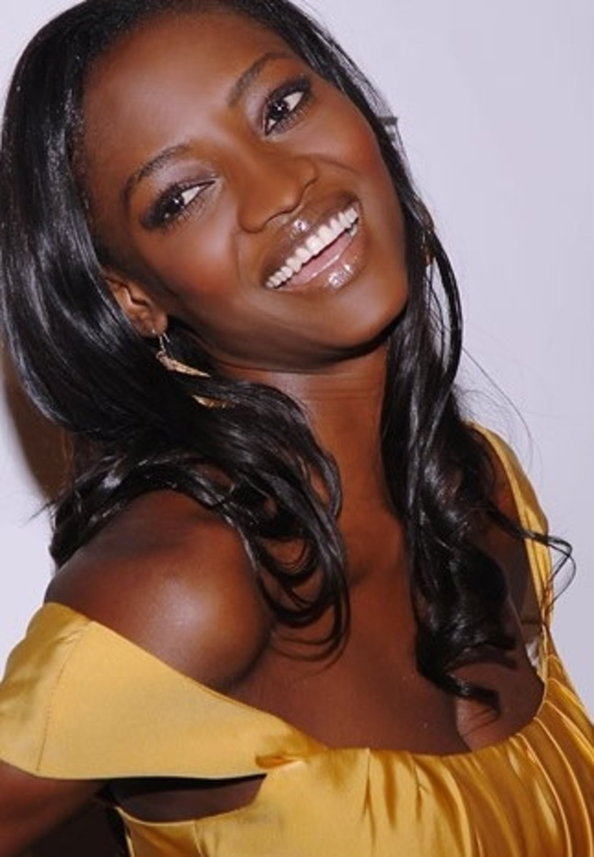 Oluchi. Celebrity black women with dark skin.