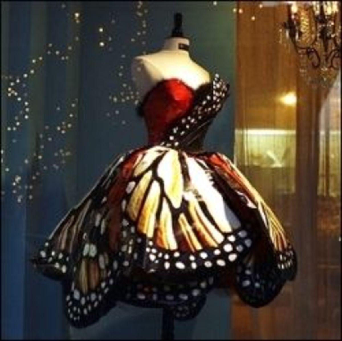 Fashion Forward Iconic Monarch Butterfly Dress by Luly Yang