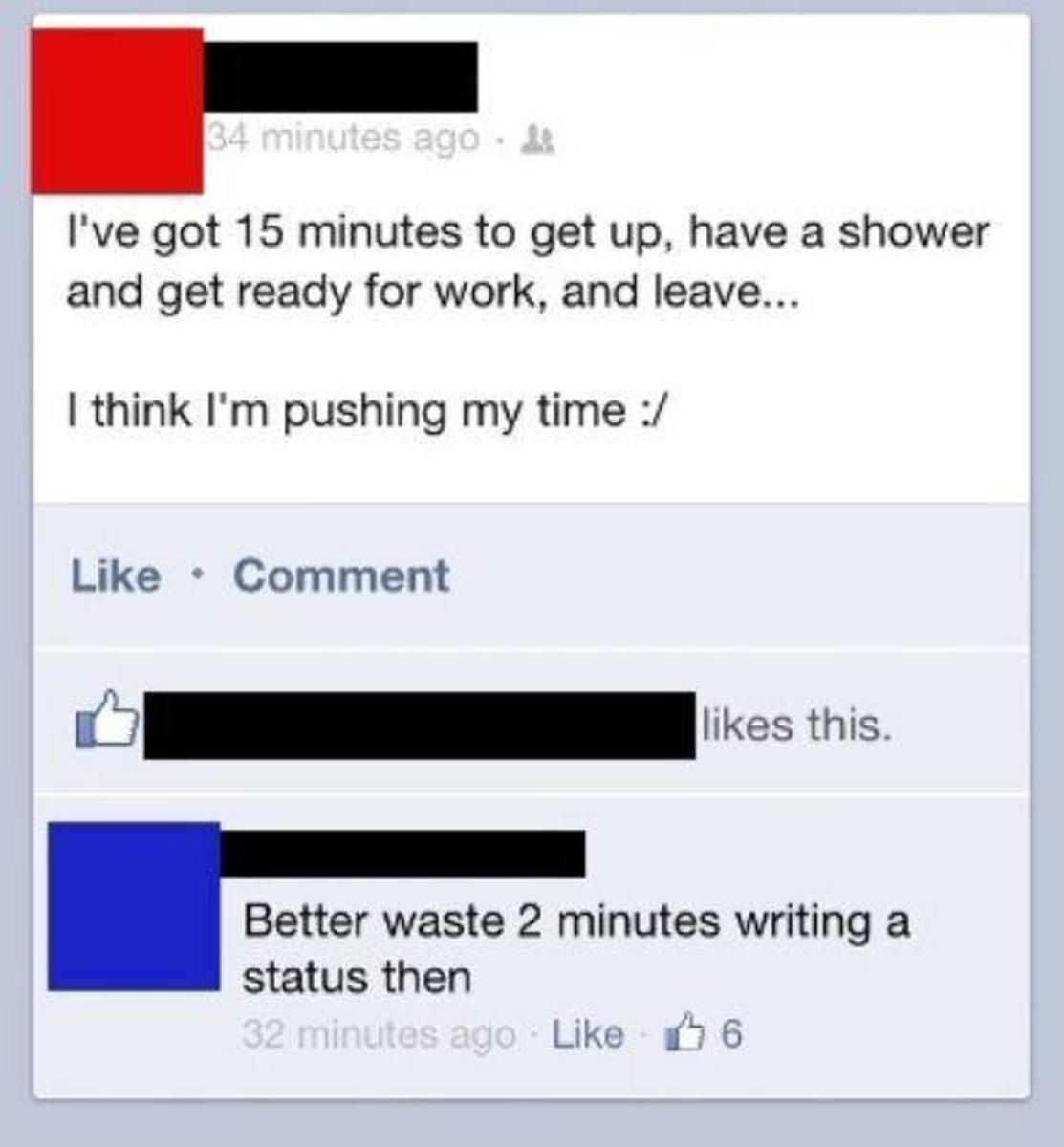 Facebook waste of time essay