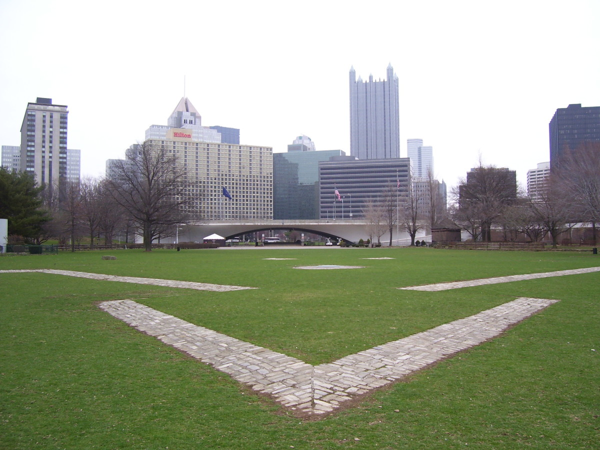 Outline Fort Duquesne - Point State Park
