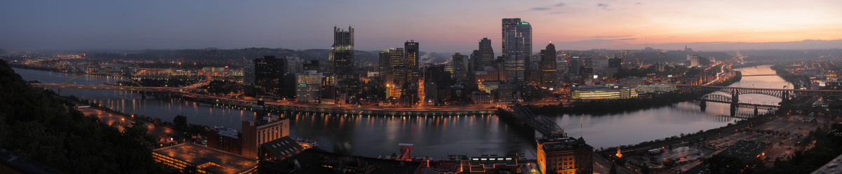 Pittsburgh from Mt Washington at Dawn