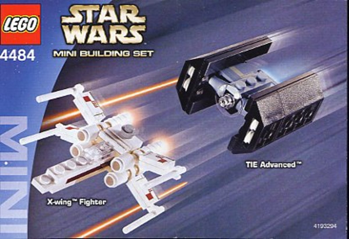 LEGO Star Wars X-Wing Fighter & Tie Advanced Fighter 4484 Box