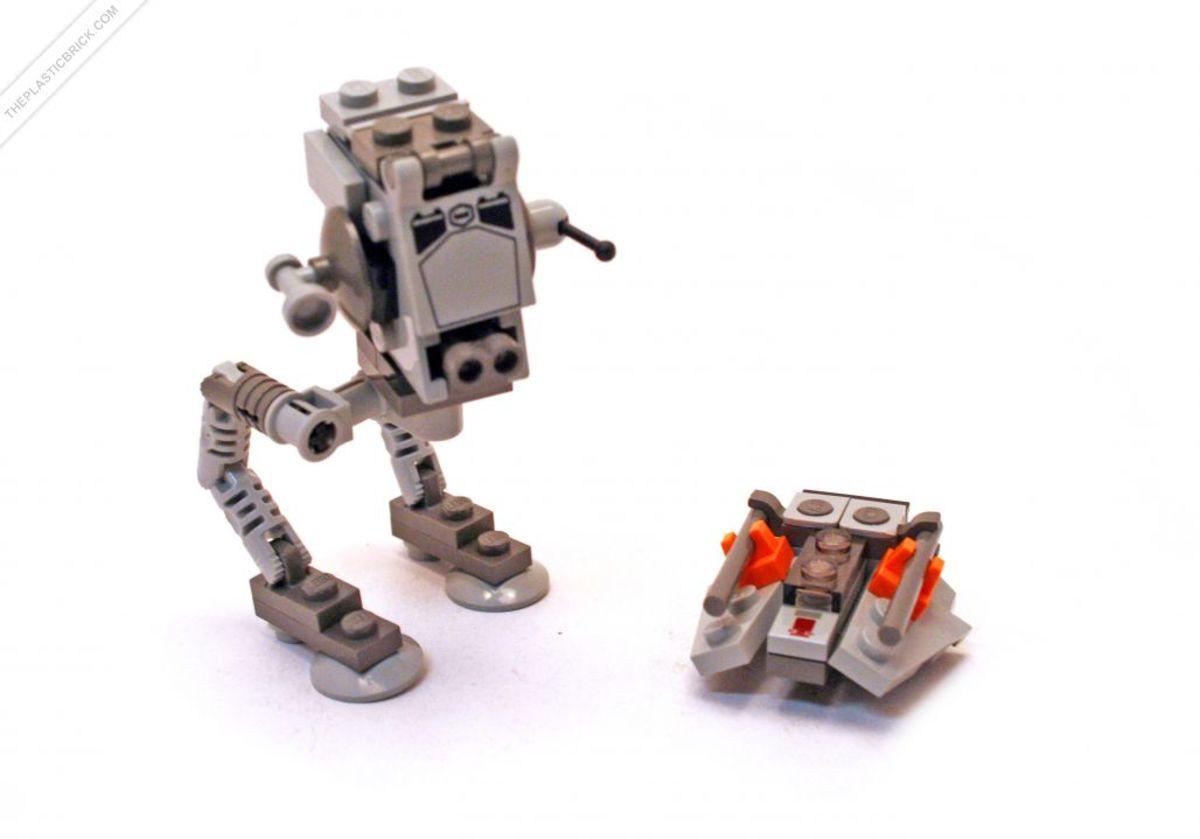 LEGO Star Wars AT-ST & Snowspeeder 4486 Assembled