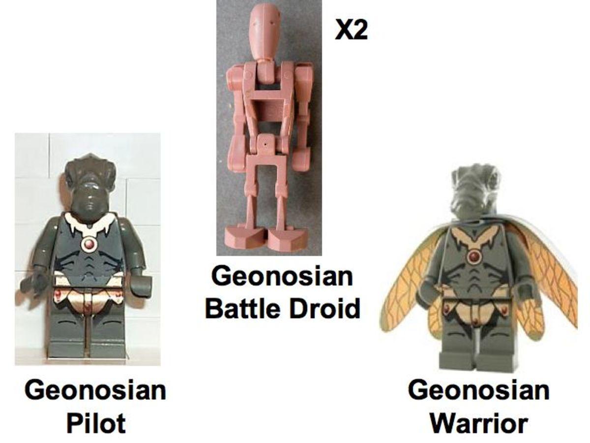 LEGO Star Wars Geonosian Fighter 4478 Minifigures