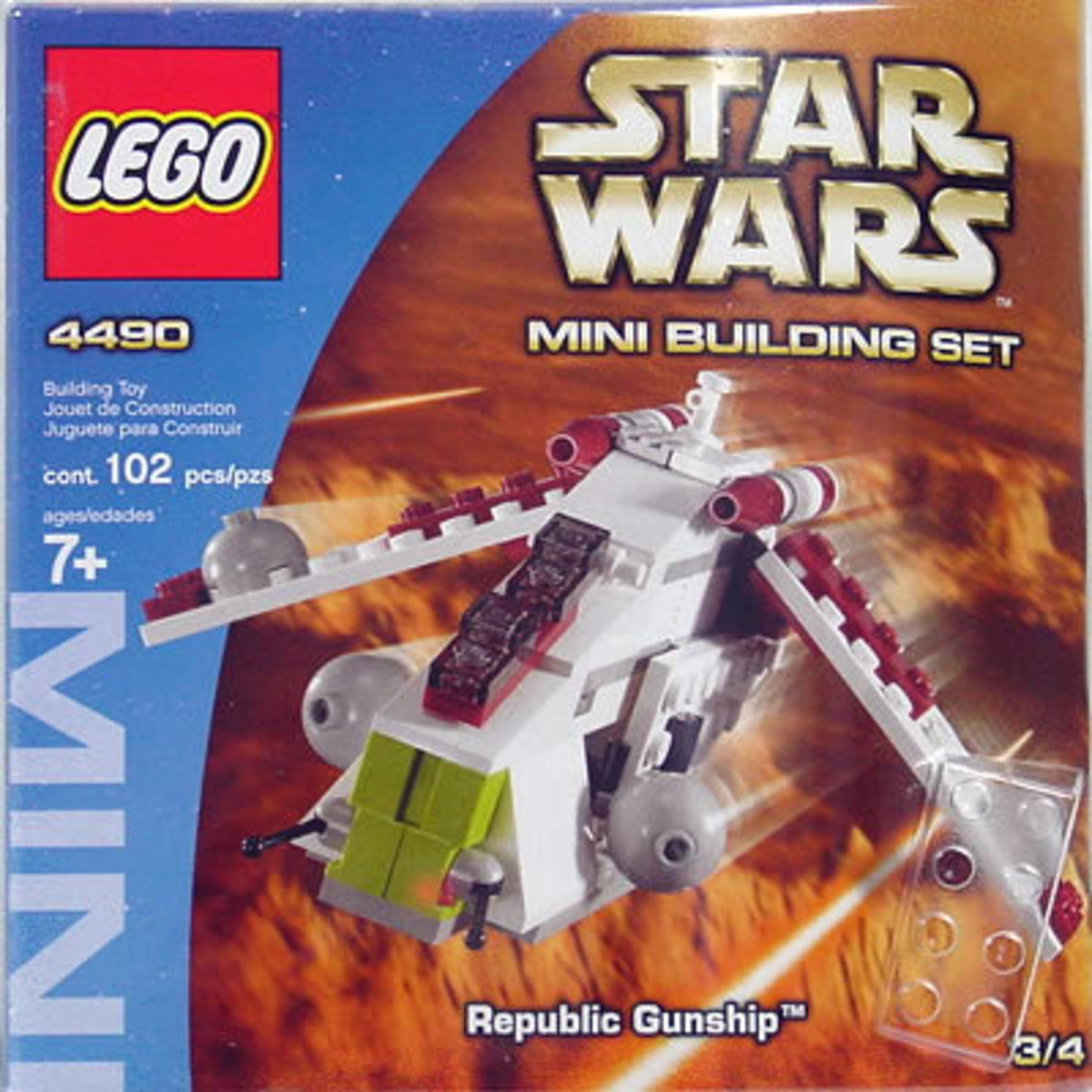 LEGO Star Wars Republic Gunship 4490 Box