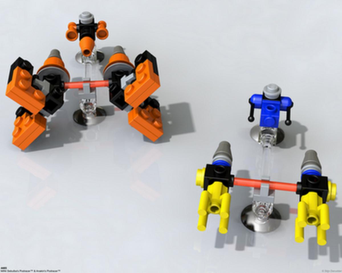 LEGO Star Wars Sebulba's Podracer & Anakin's Podracer 4485 Assembled