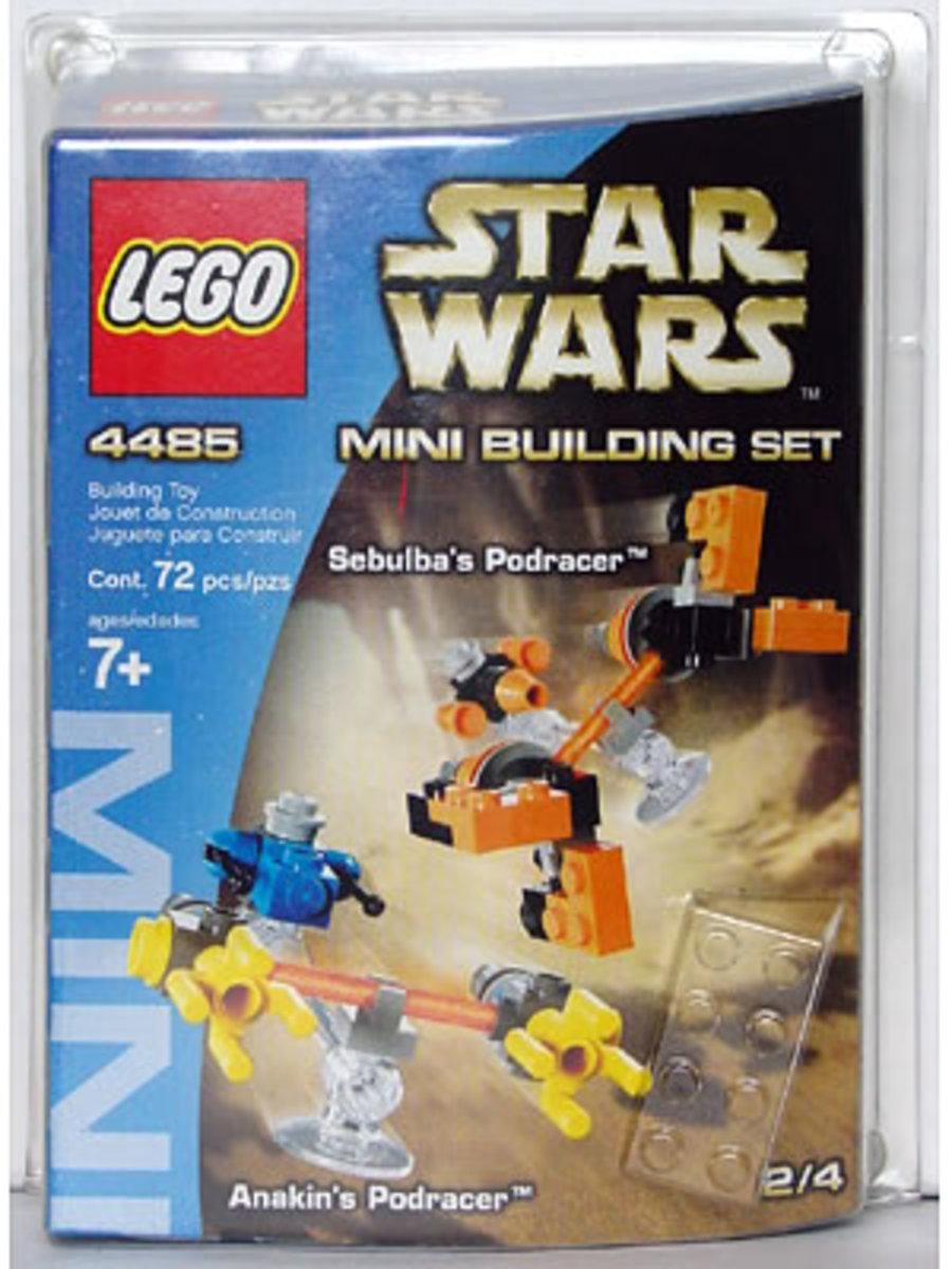 LEGO Star Wars Sebulba's Podracer & Anakin's Podracer 4485 Box