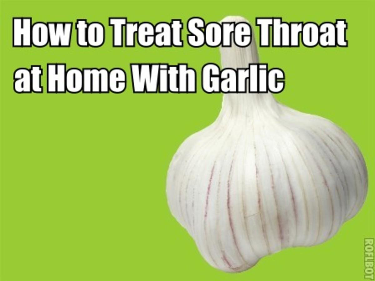 treat sore throat with garlic