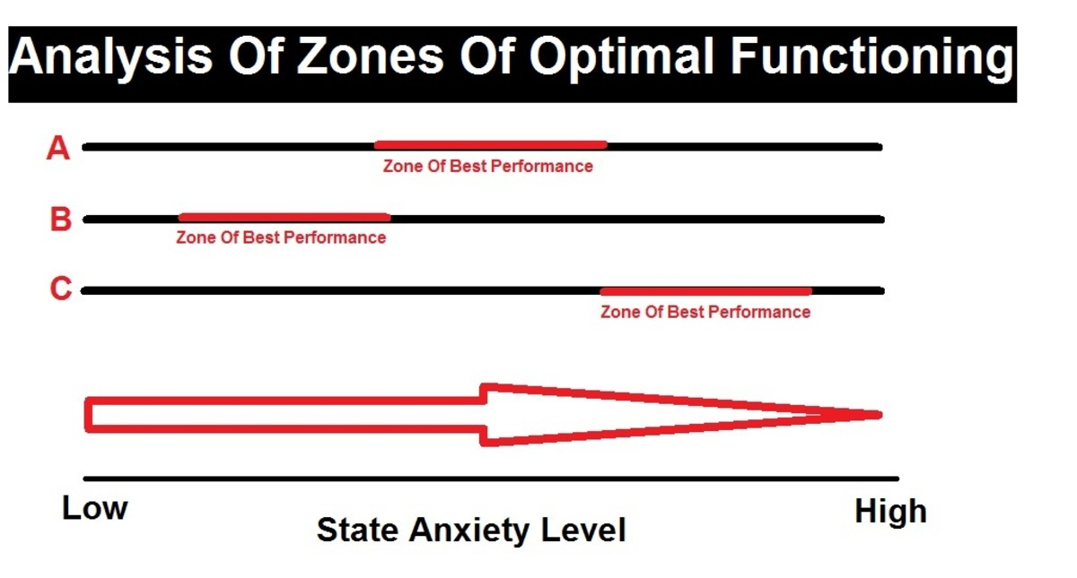 Yuri Hanin's Zones Of Optimum Functioning in action for 3 distinctly different athletes- Can you name a sport where each level might be best suited?