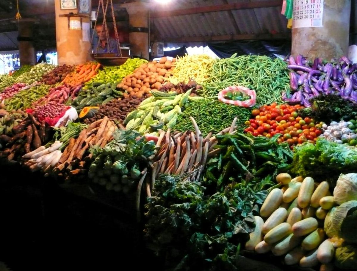 Stand of fresh vegetables