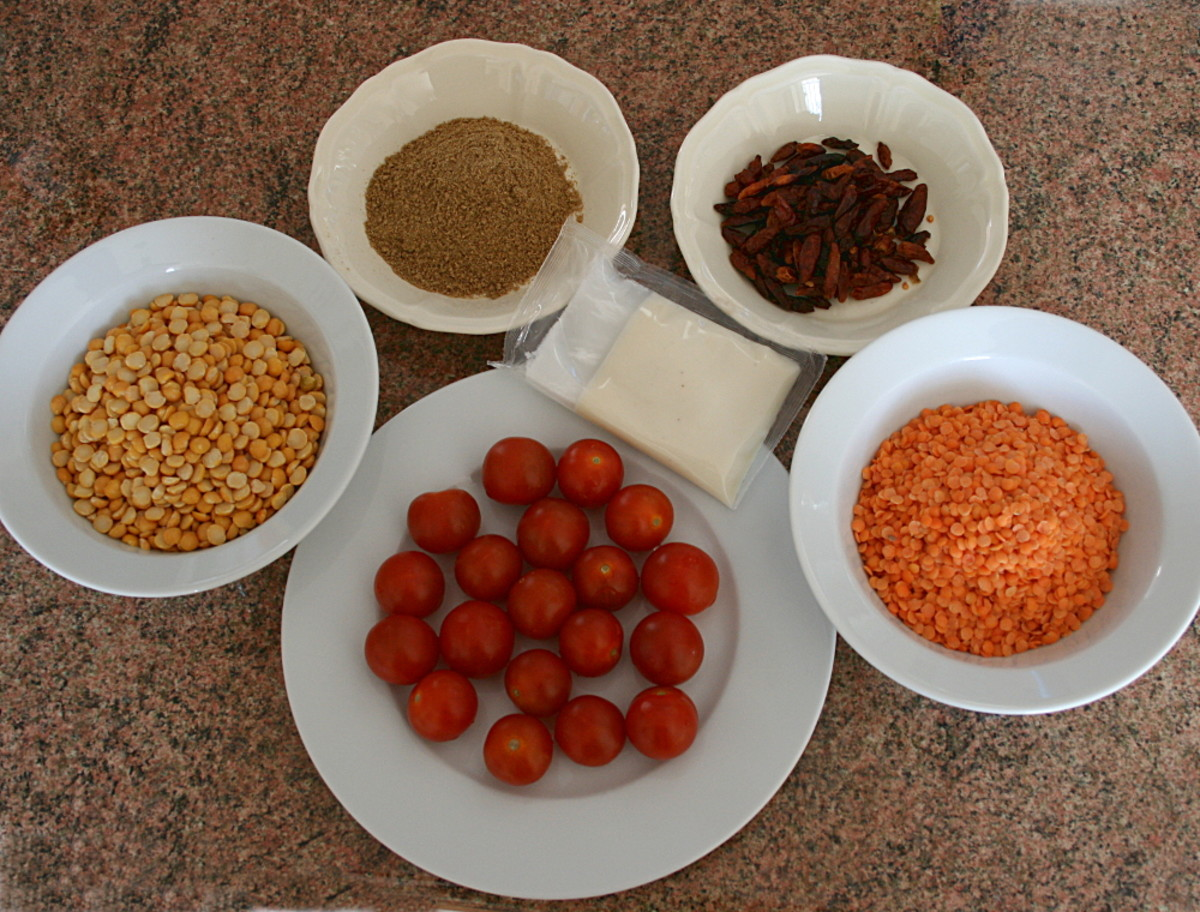 Possible ingredients for dahl