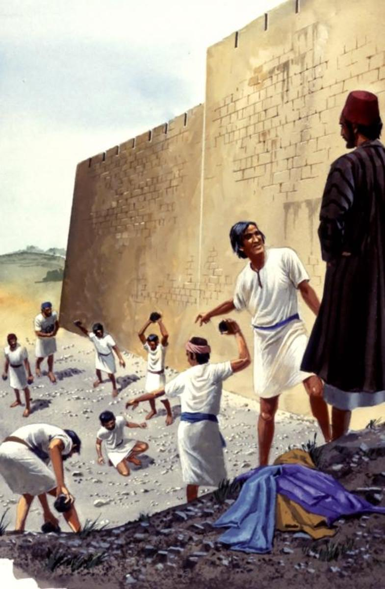 """""""And the witnesses laid down their clothes at the feet of a youn man named...(Acts 7:58)."""