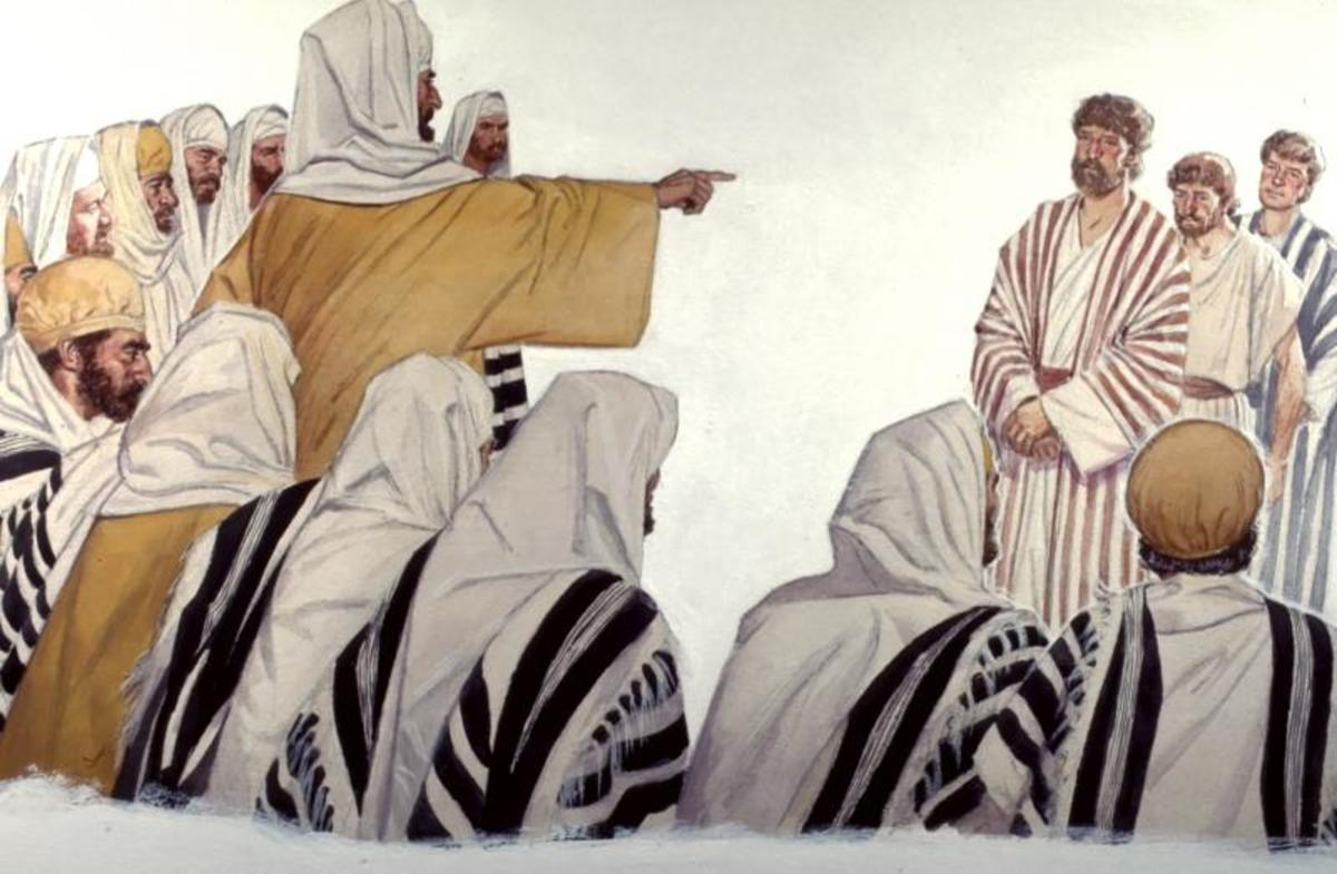 """""""So they called them and commanded them not to speak at all nor teach in the name of Jesus"""" (Acts 4:18)."""