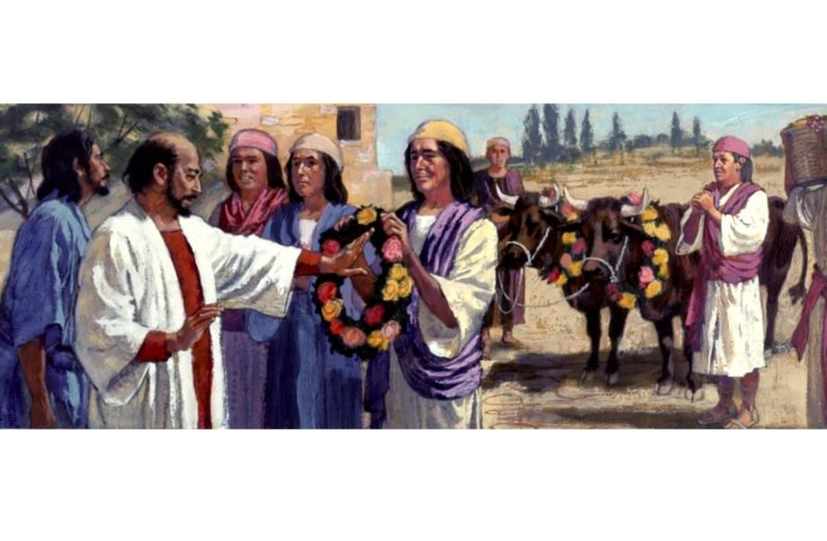 In Lystra Paul and Barnabas are worshiped as god's after they perform a miracle. Find out what they do. Acts 14:8-15.