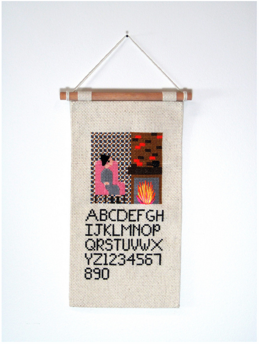 A sampler is a traditional way of learning cross stitch as well as a way of recording and displaying how to stitch the alphabet plus other patterns and shapes which may be referred to later.