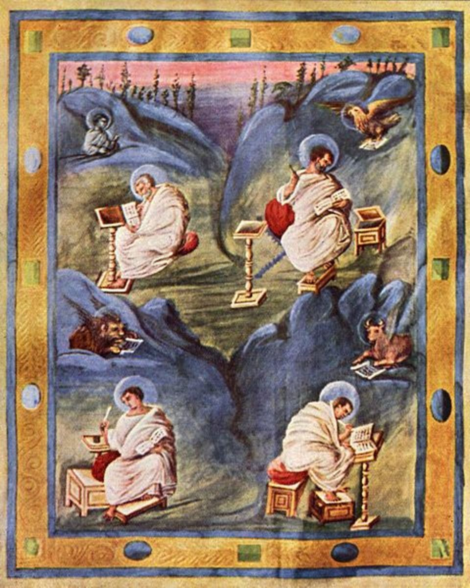 Illustration from a Carolingian Period manuscript.