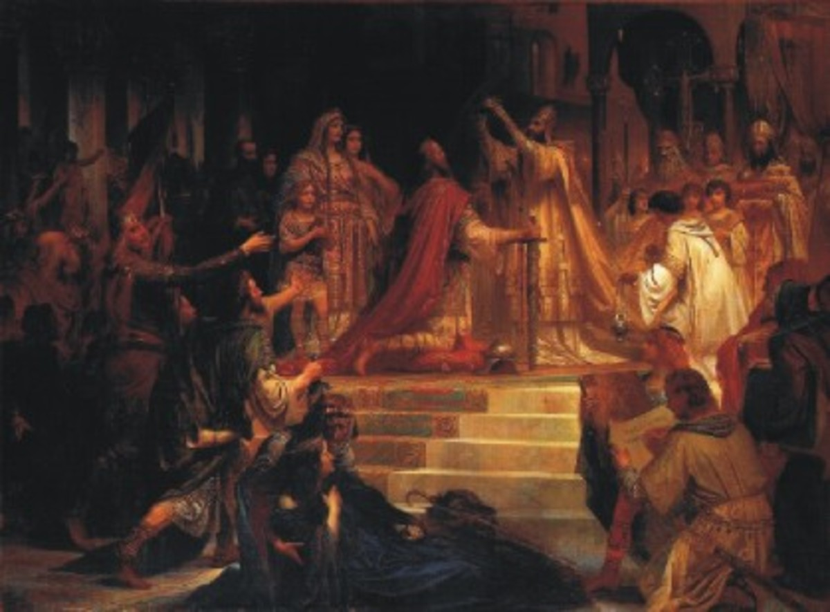 The Imperial Coronation of Charlemagne painted by Friedrich Kaulbach, 1861.