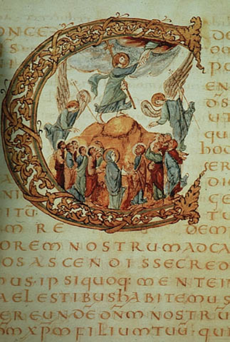 The Sacramentary of Drogo, one of the gospel illustrated manuscripts from the Carolingian  Revival.