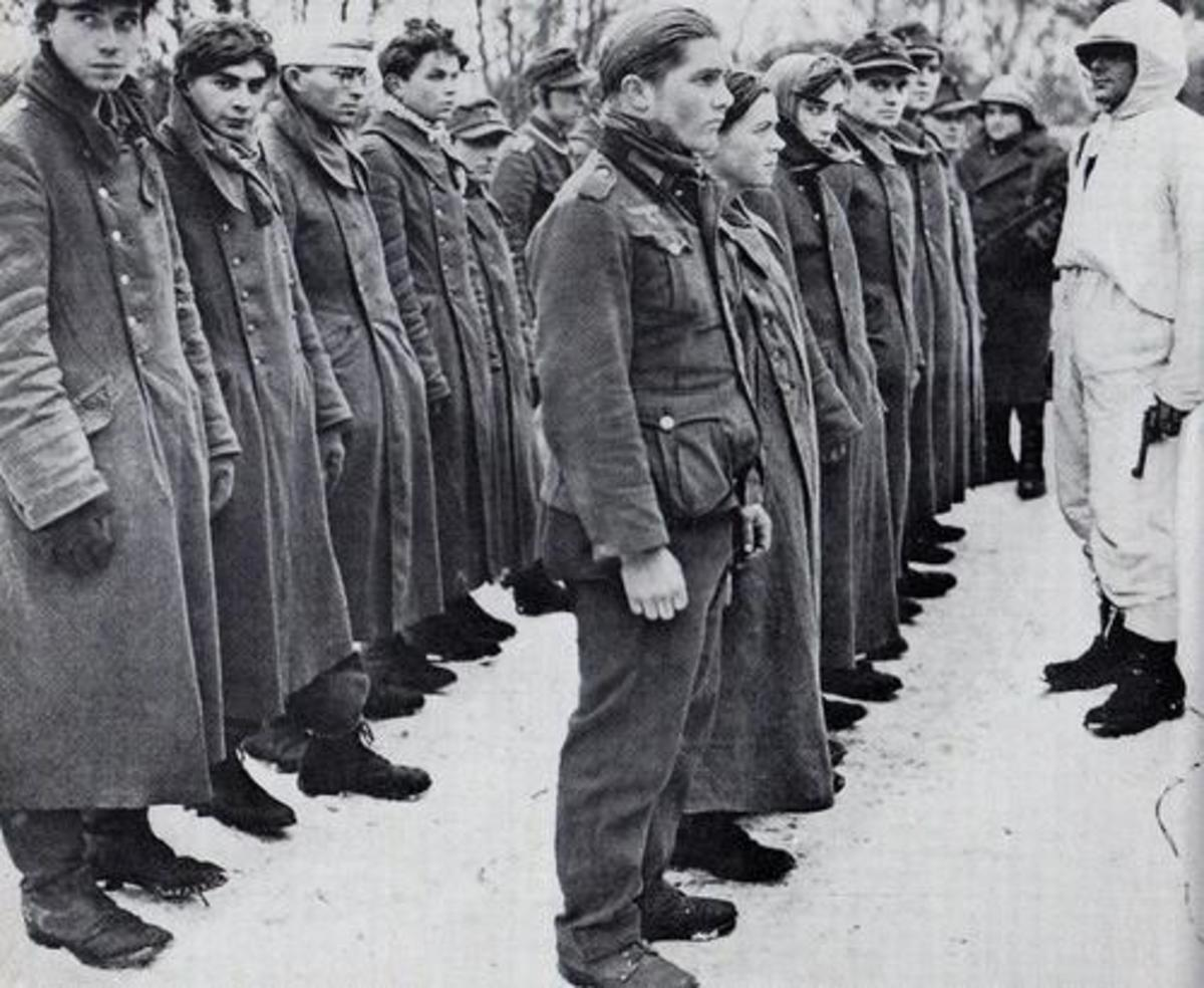 Relief or fear? German POWs captured during the Allied counterattack, January 1945.