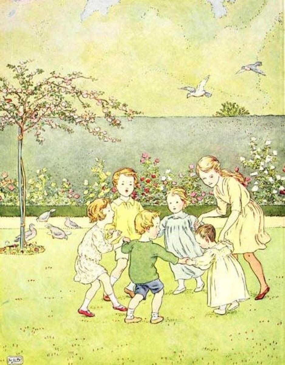 Ring o Roses, illustration by Brooke Leslie