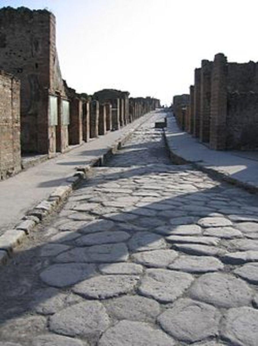 A Roman Street in Pompei