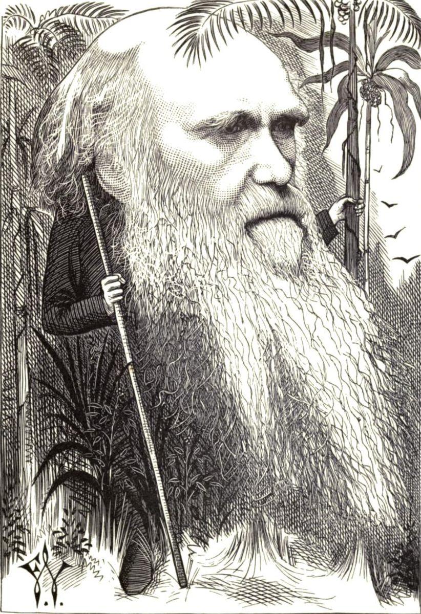 Caricature of Charles Robert Darwin