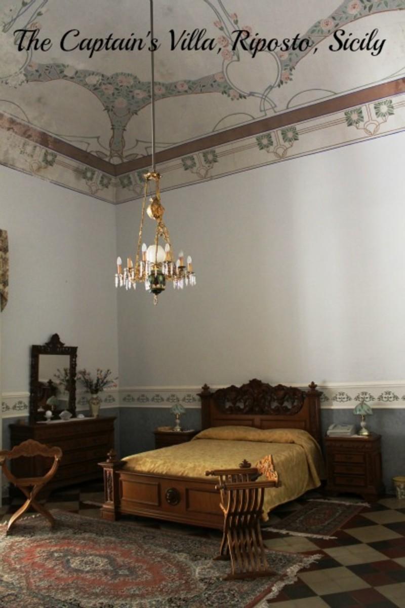 Main bedroom, The Captain's Villa, Riposto, Sicily.