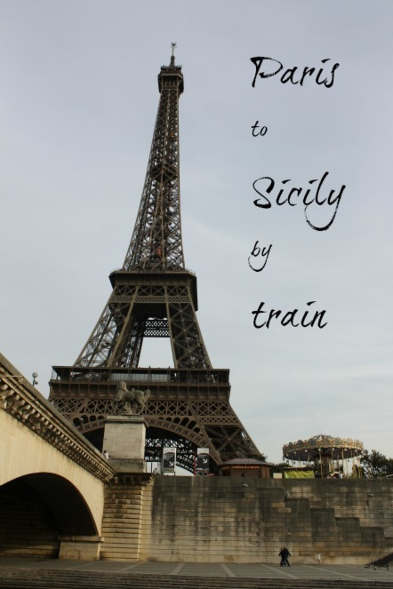 How to go by train from Paris to Sicily, Italy