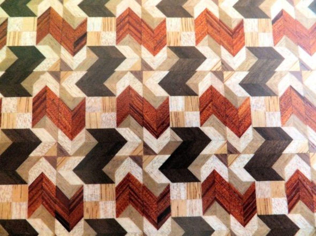 mosaic woodwork