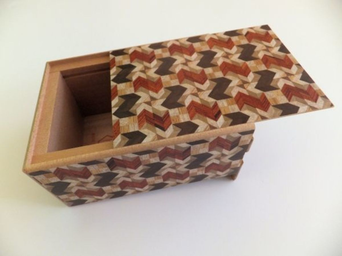 opened japanese puzzle box