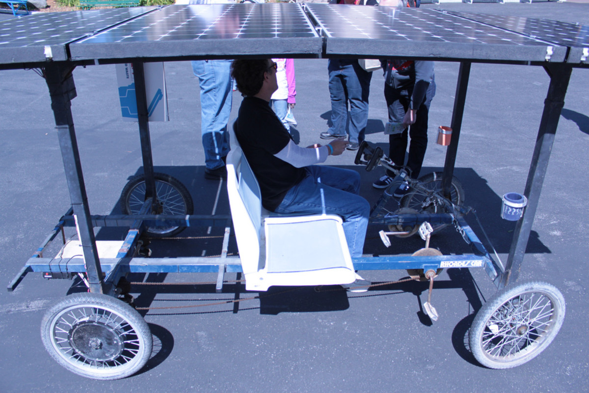 DIY Solar car featured at Maker Faire 2010