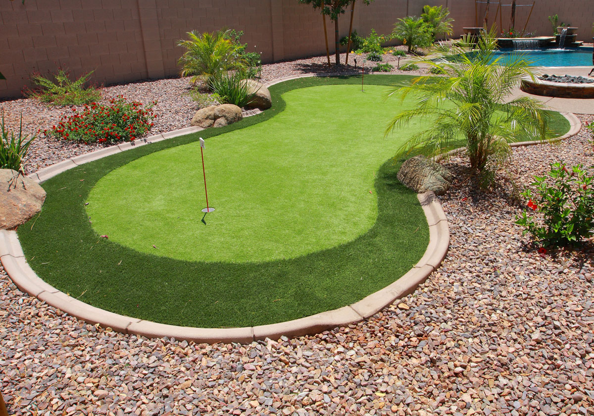 other swimming pool amenities such as a putting green