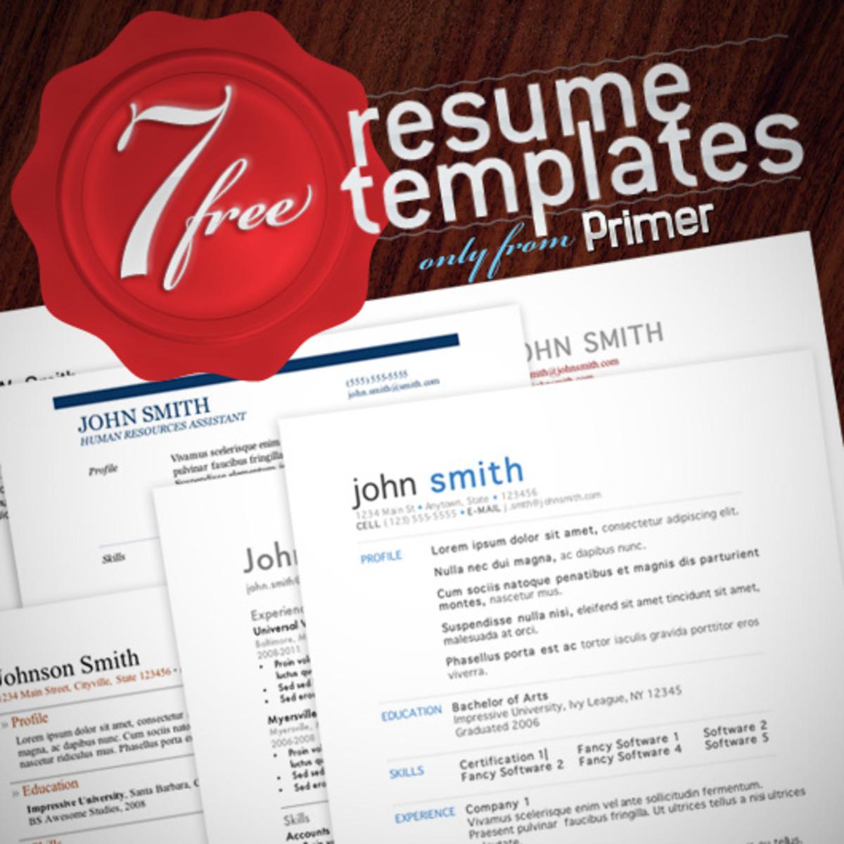 free microsoft word resume templates