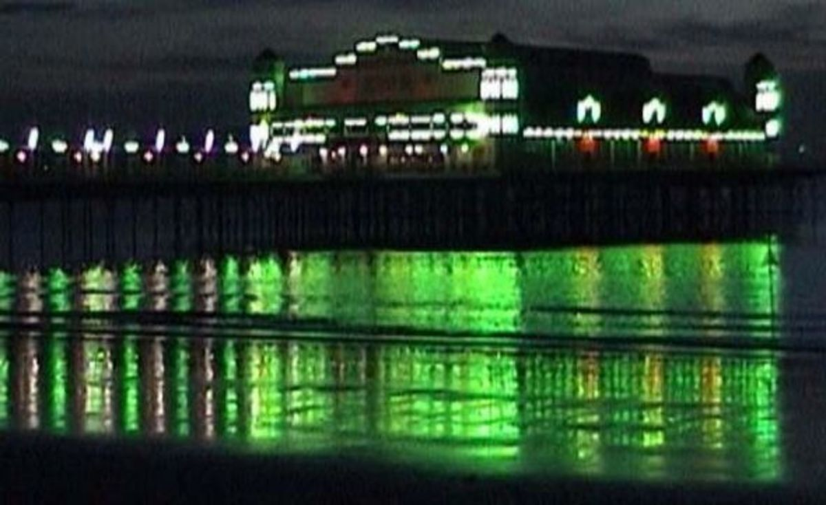Weston Super Mare Pier at Night