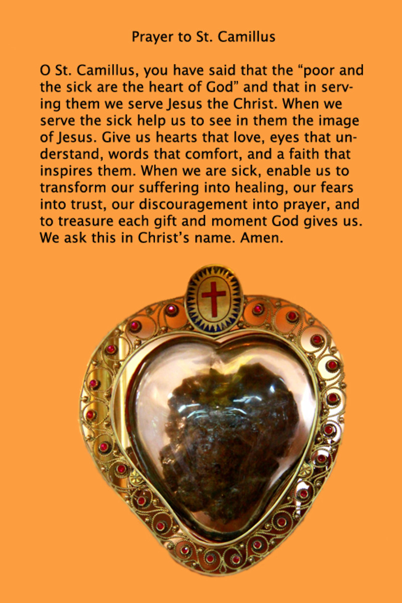 Prayer to St. Camillus. I personally designed this card