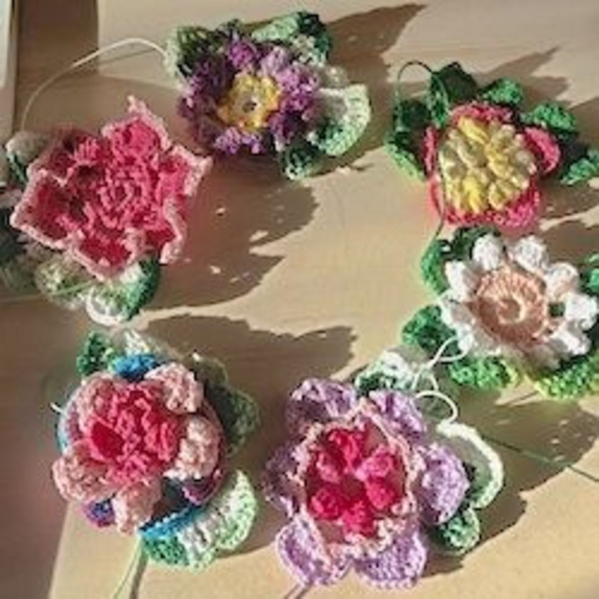 Let's Make A Spring Decoration With Freeform Crochet Flowers!