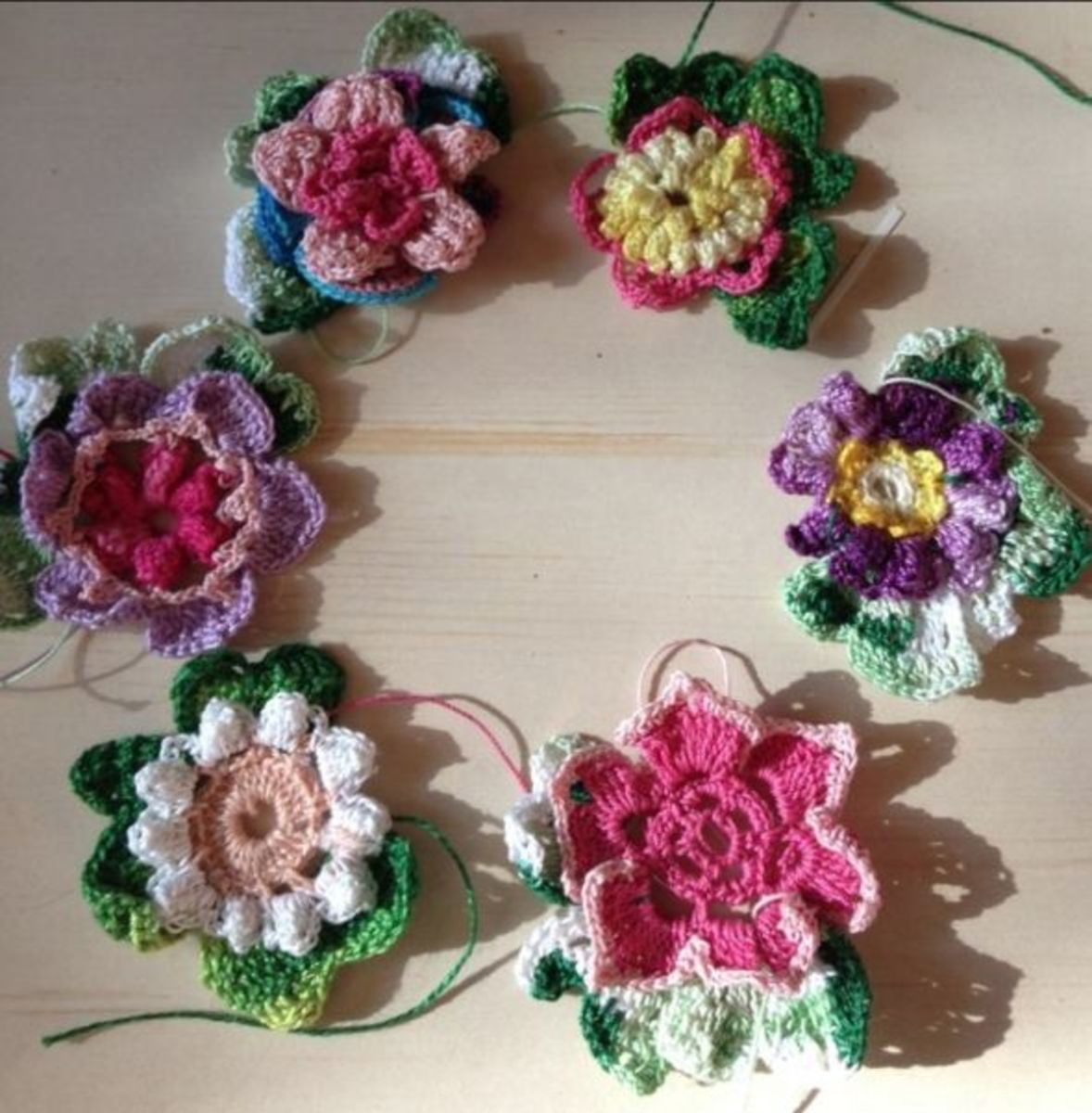 A simple floral wreath when you add the simple joining technique.