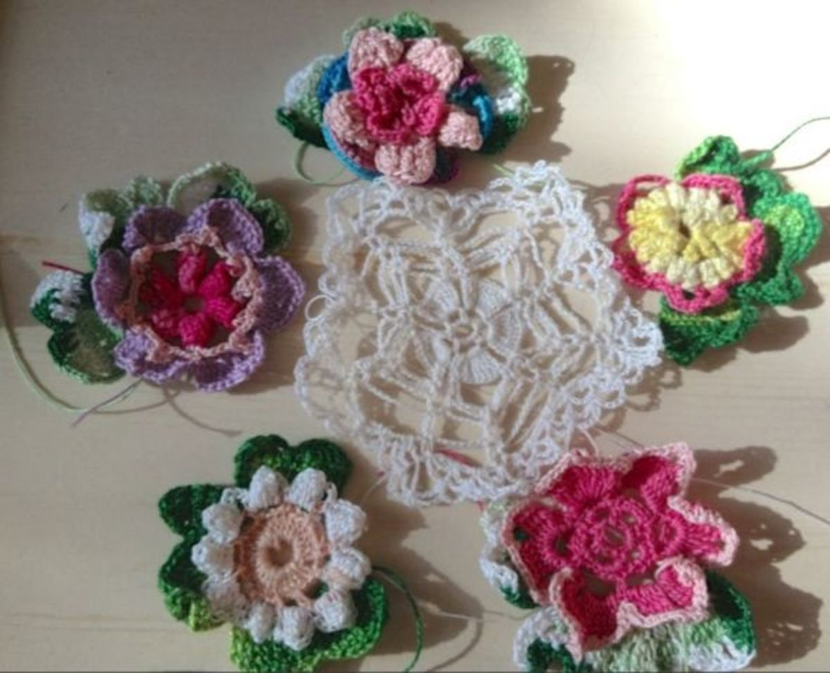 "Add a doily center and you'll have about a 7"" mini doily with size 20 thread"