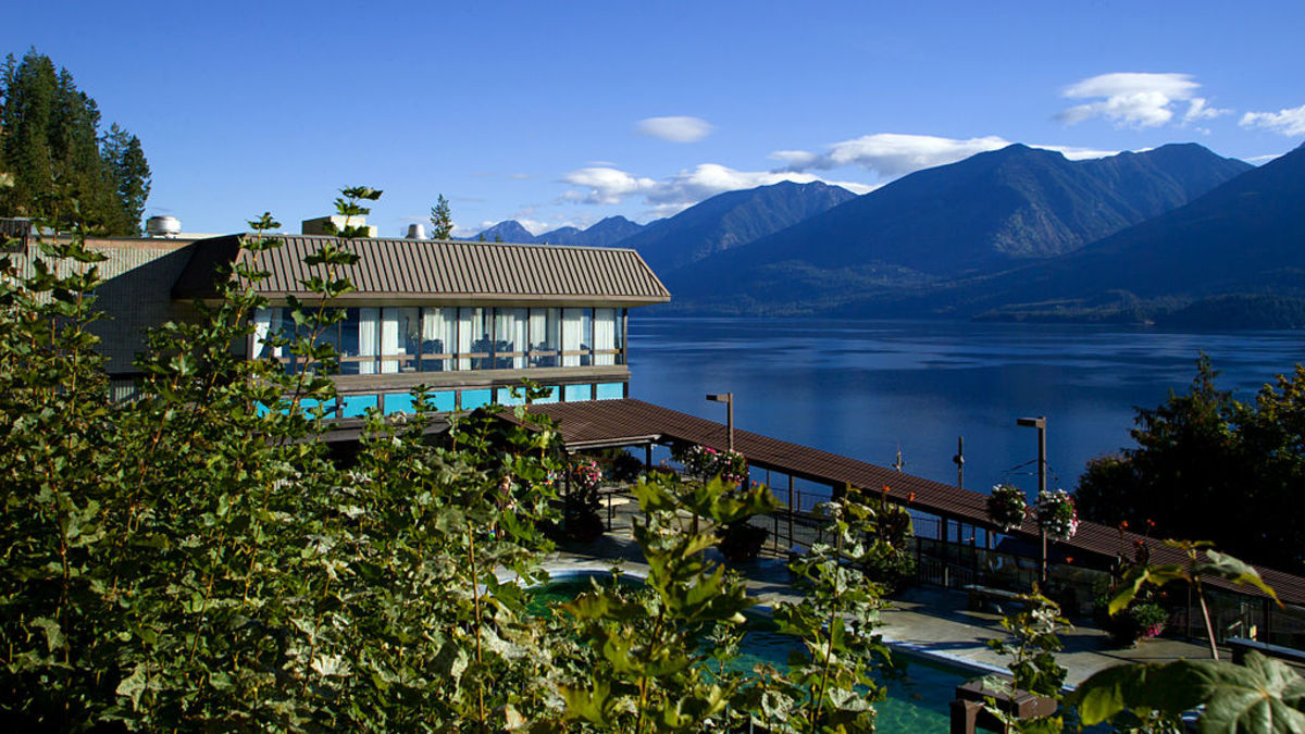 Photo: Ainsworth Hotsprings Resort is situated in pristine wilderness on Kootenay Lake, B.C.