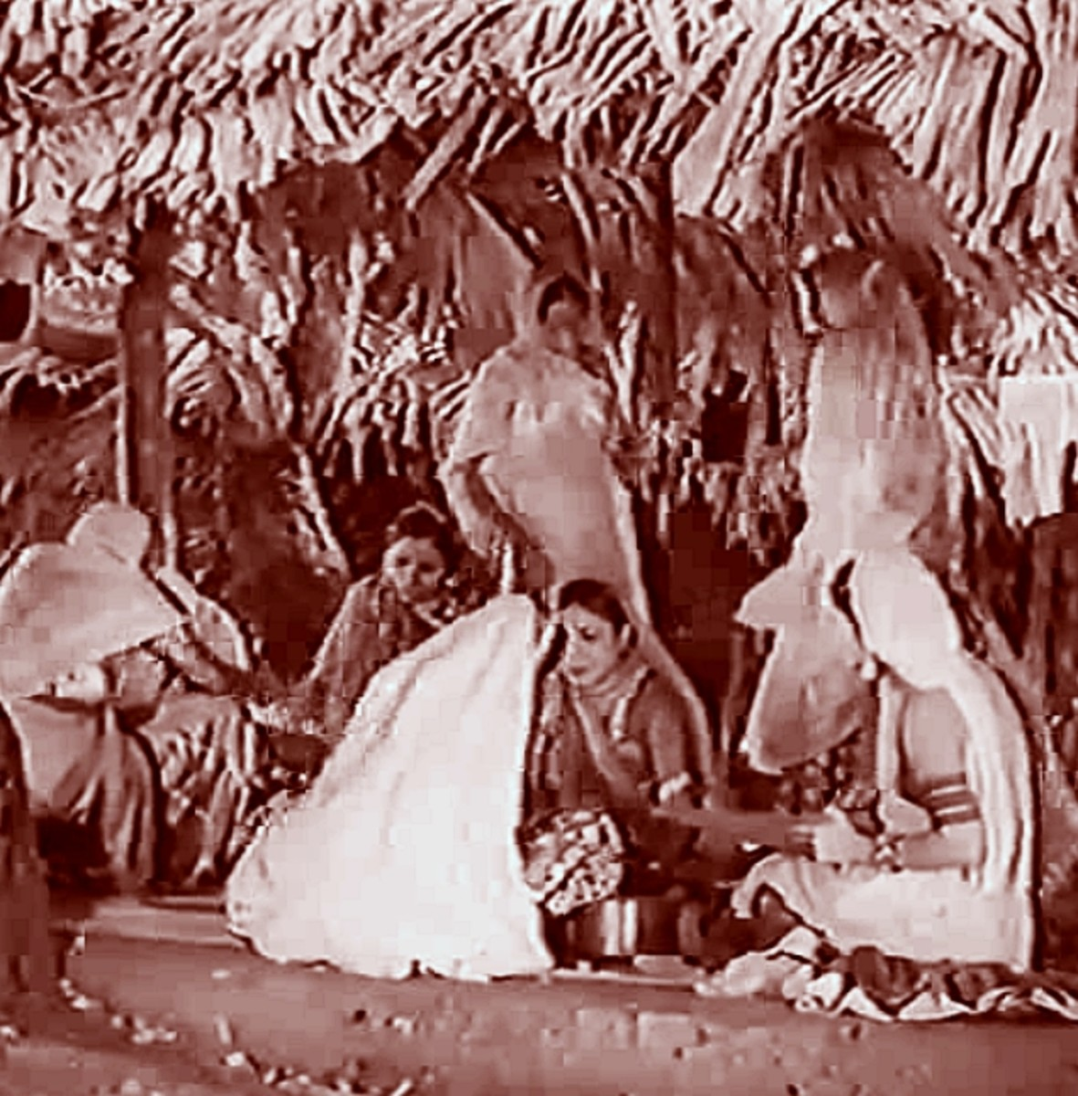 A folk song from Achhut Kanya in 1934.  Women singing in the village while doing the daily chores:  as original as a folk song can get.