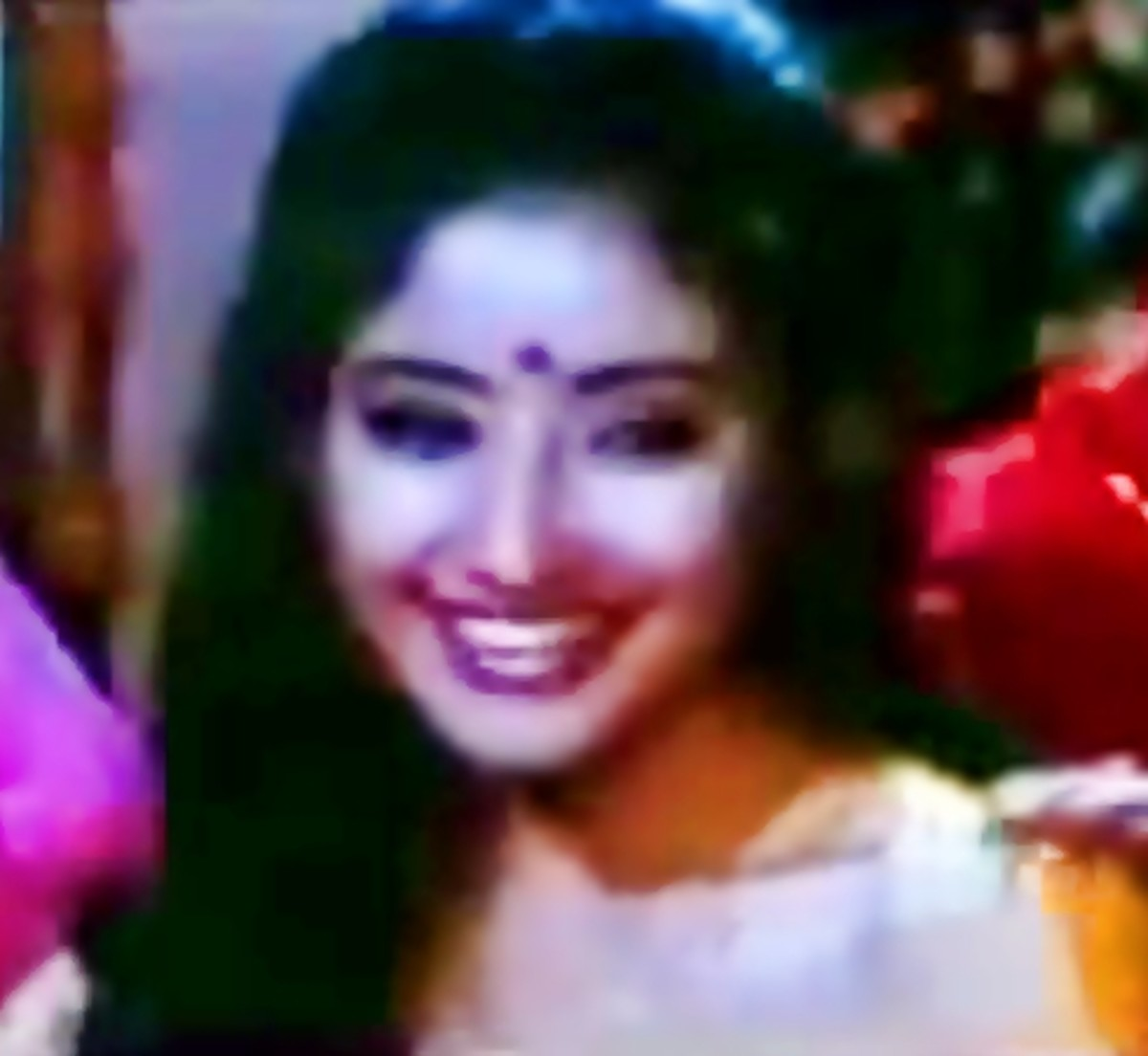 """Manisha Koirala in """"Banno teri ankhiyan"""" from Dushmani:  a song for the haldi ceremony, part of preparing the bride for marriage."""