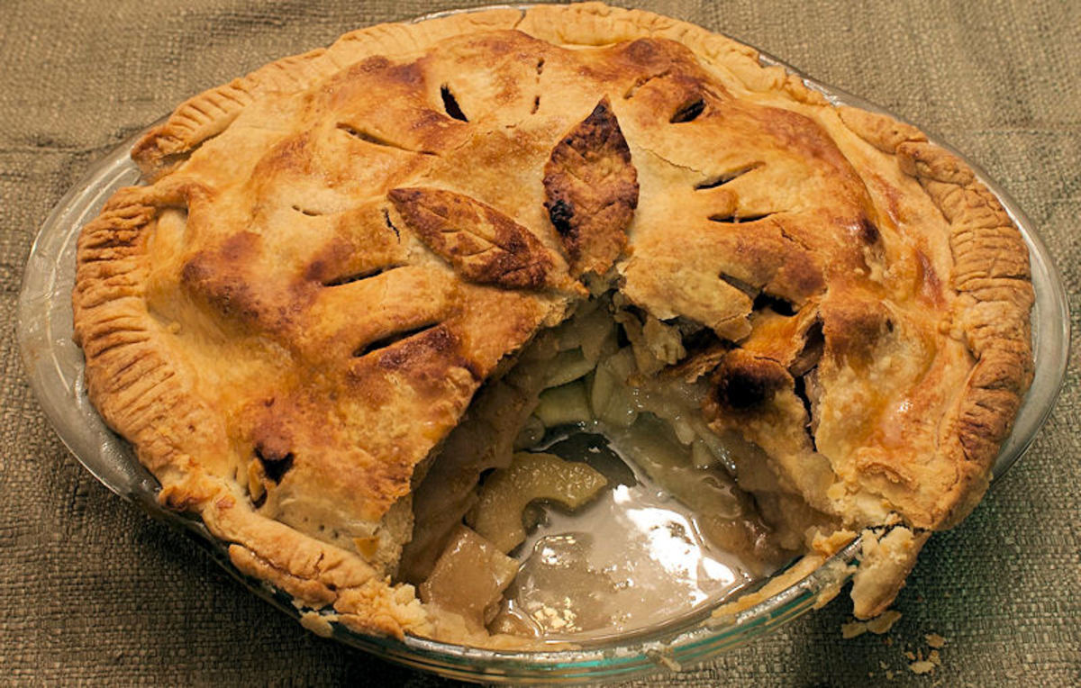 Fresh hot apple pie. One of the top 10 pies.