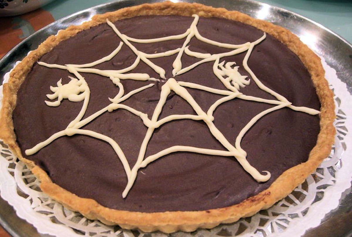 Comfort food! Delicious chocolate pie.