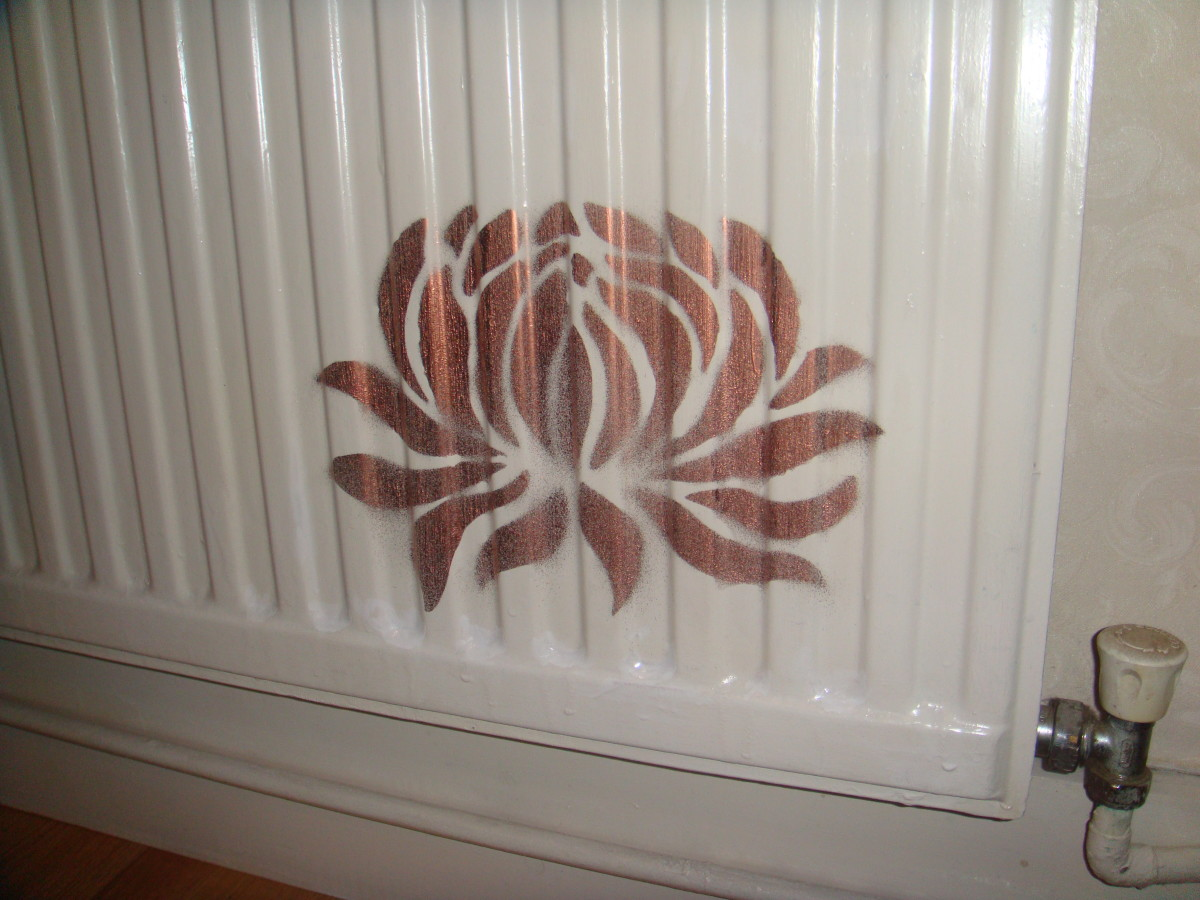 Using Wall Stencils to Update a Radiator