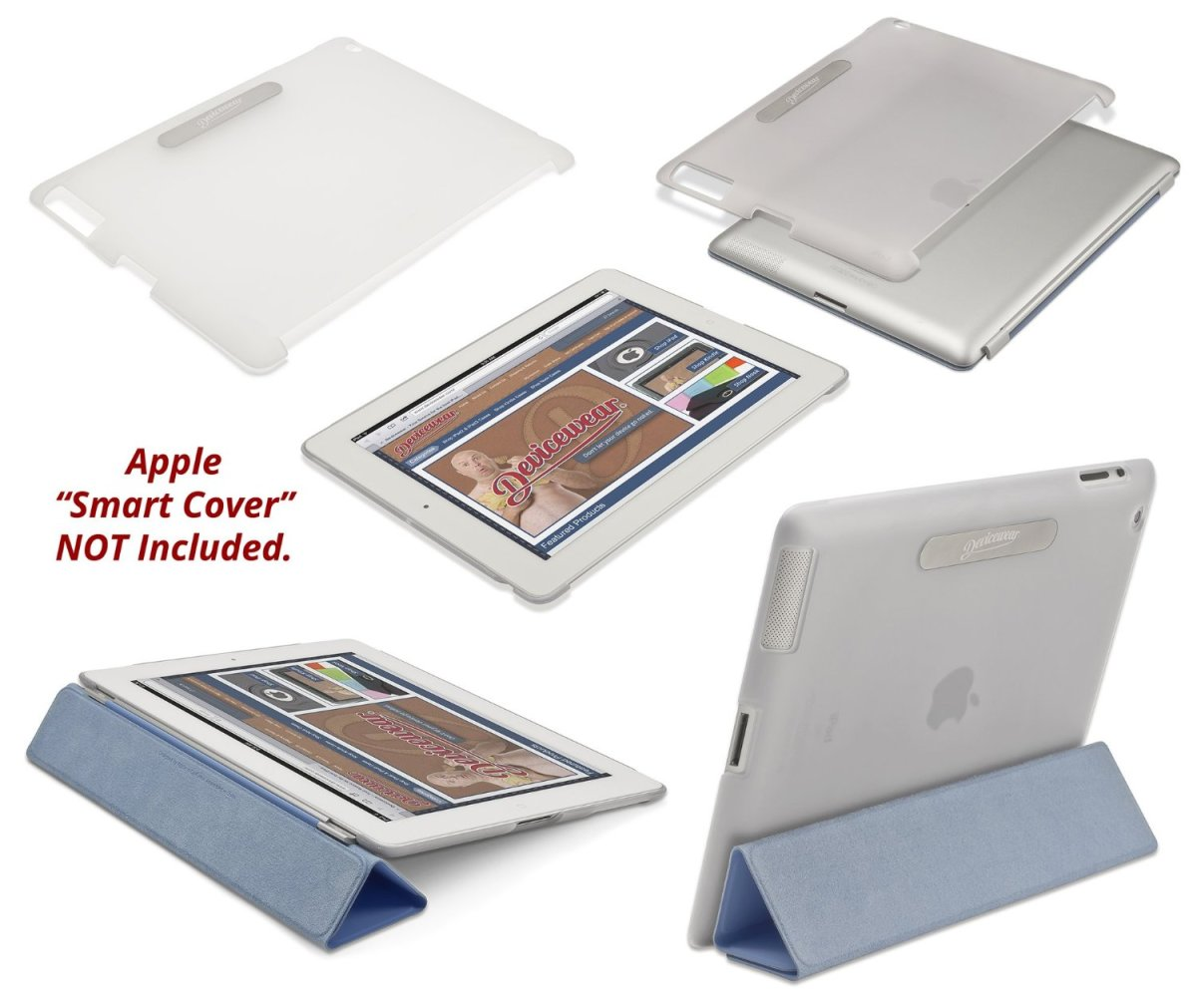 iPad 4 Back Cover Compatible with Smart Cover