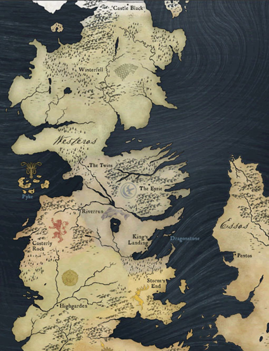 Map of Westeros.