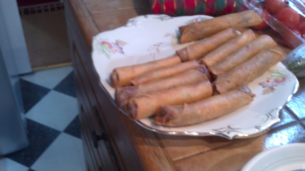 Beef Spring Rolls Recipe With Potatoes and Carrots