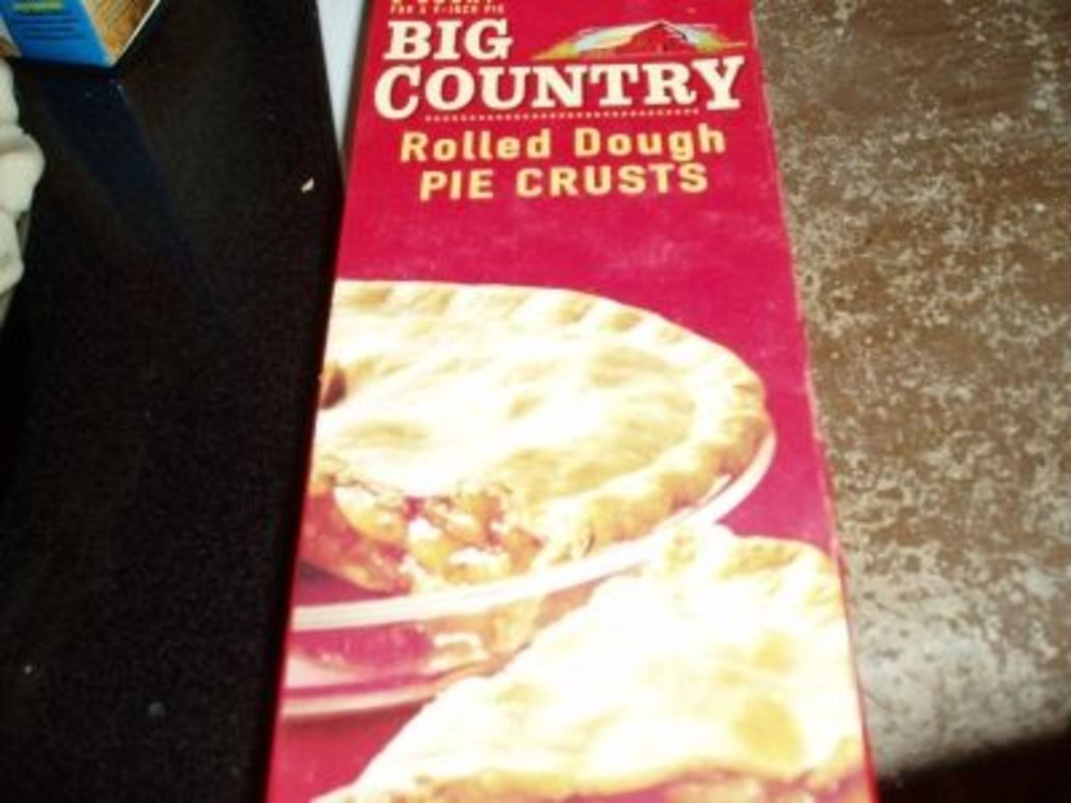 This is the pie crust I use, it is lower in fat and calories than the name brands