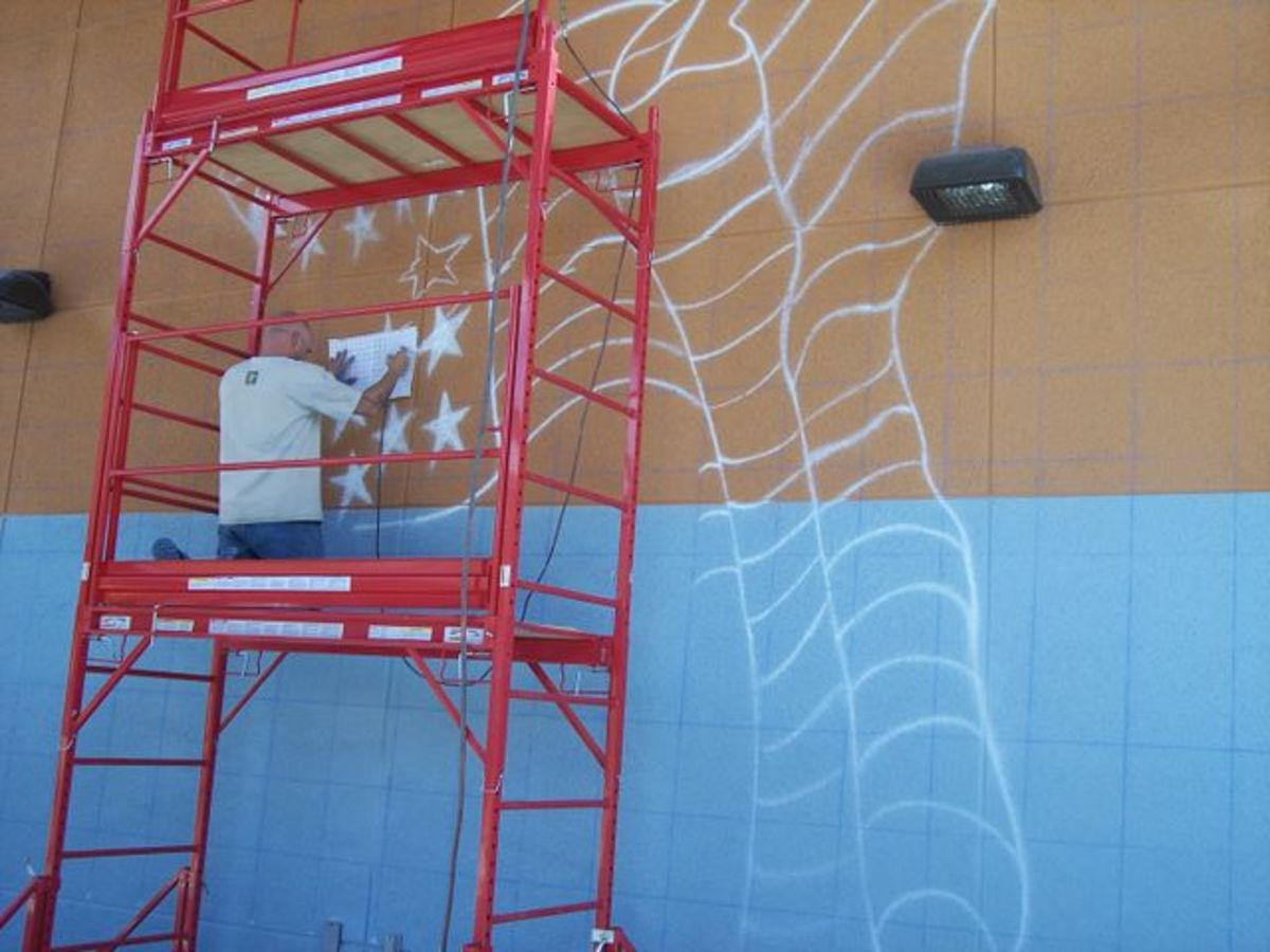 Street Art and Graffiti Mural Grid Tutorial