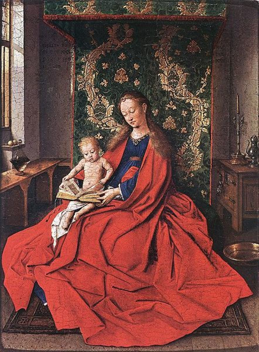 Van Eyck - Madonna with the Child Reading